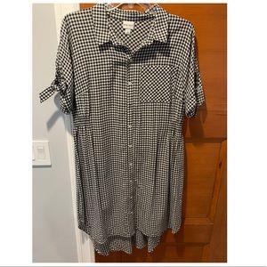 Black & White Buffalo Check Print Dress ✨ Size 2X